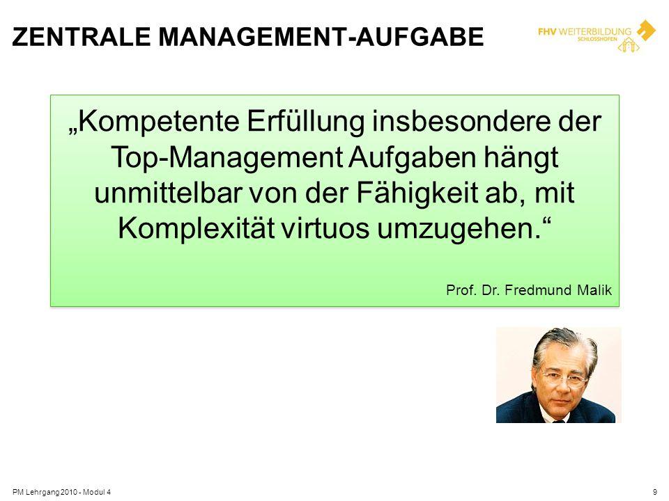 Zentrale Management-Aufgabe