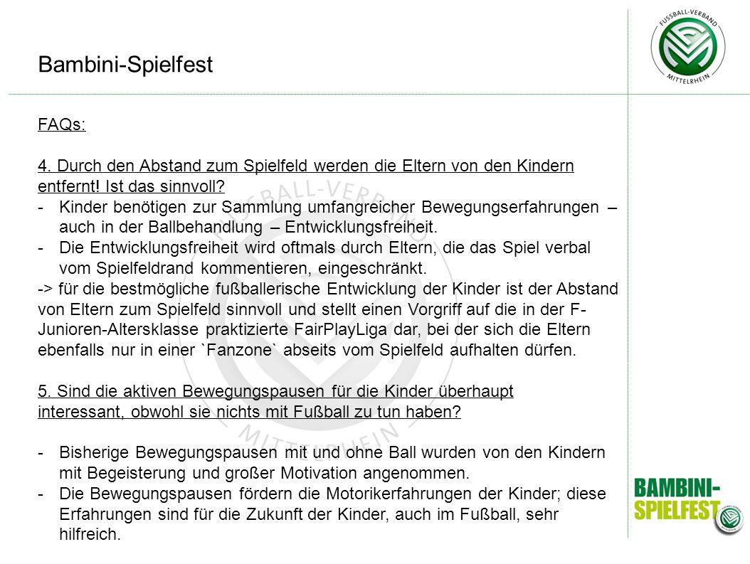Bambini-Spielfest FAQs: