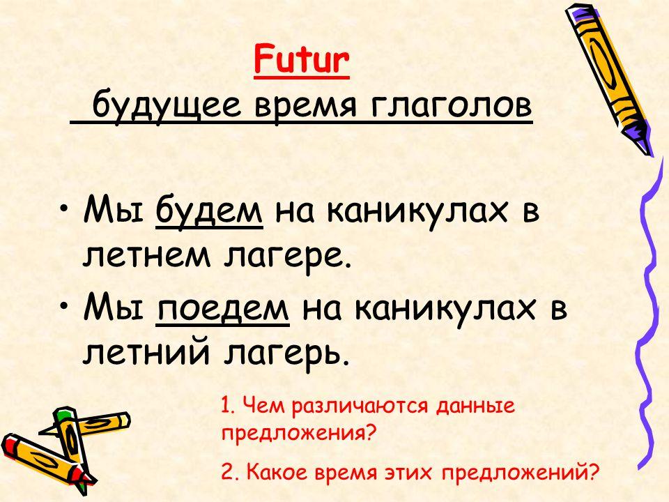 Futur будущее время глаголов