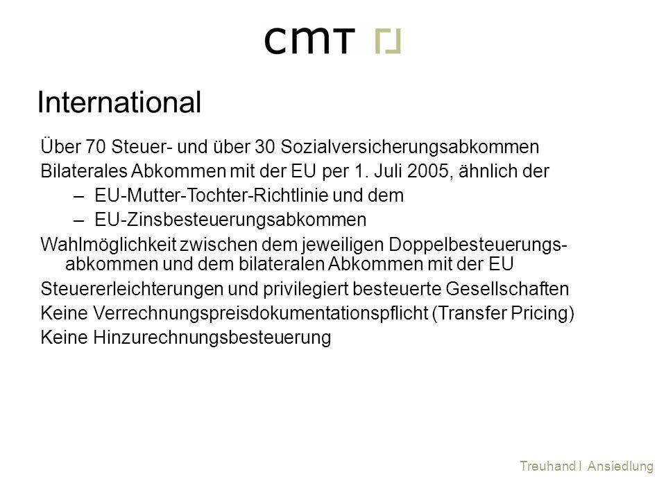 International Über 70 Steuer- und über 30 Sozialversicherungsabkommen