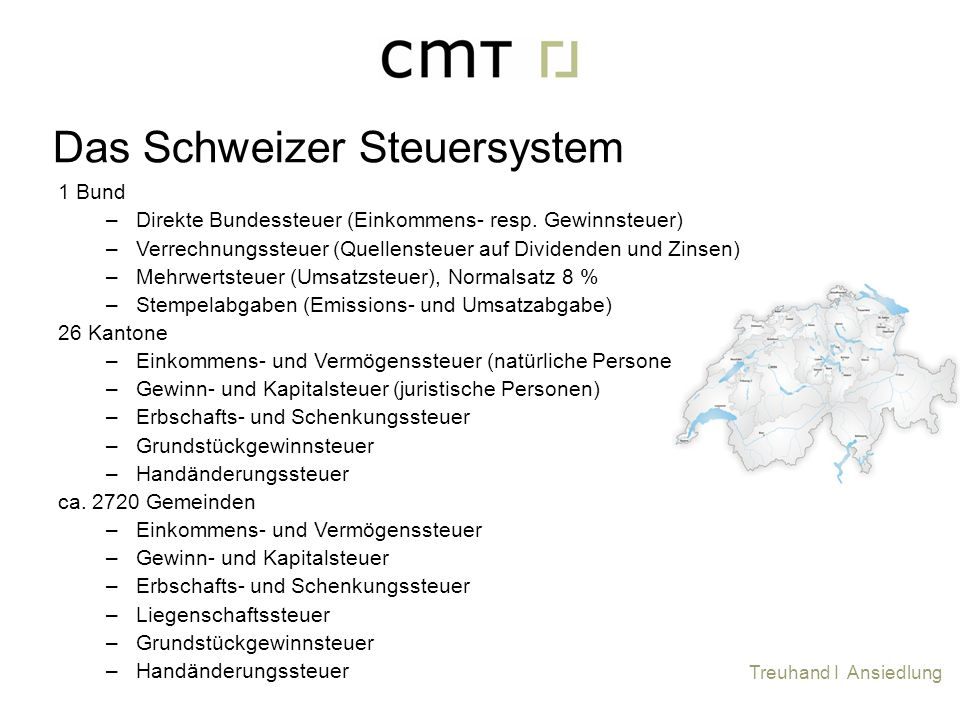 Das Schweizer Steuersystem