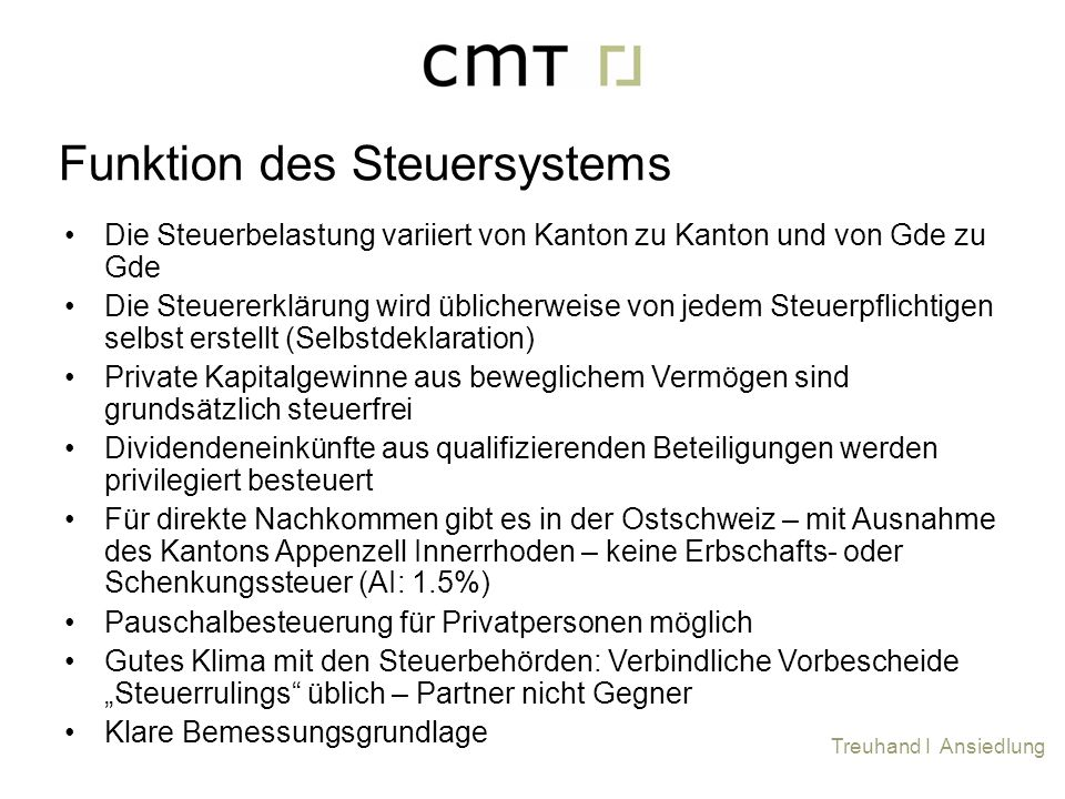 Funktion des Steuersystems