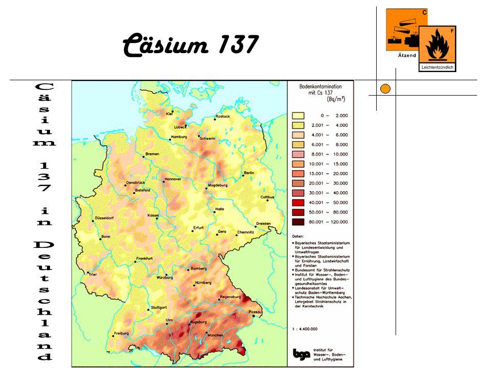 Cäsium 137 Cäsium 137 in Deutschland 10