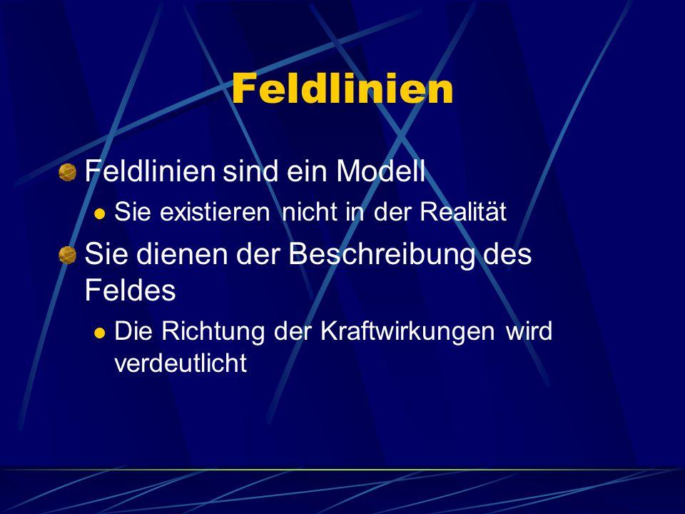 Feldlinien Feldlinien sind ein Modell