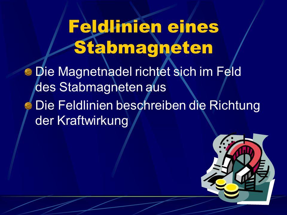 Feldlinien eines Stabmagneten