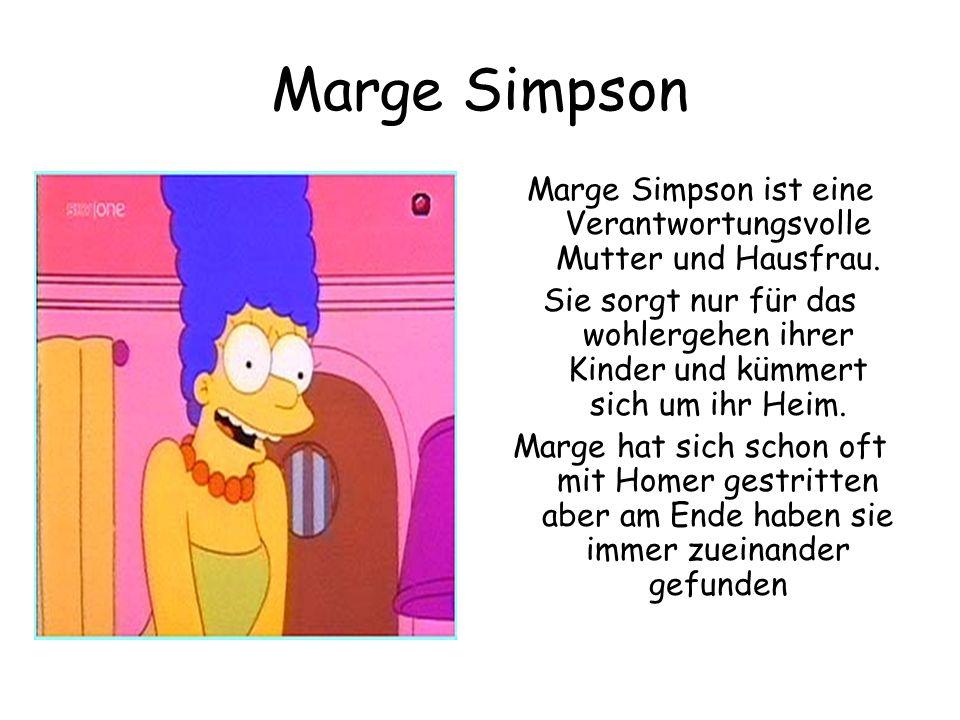 Marge Simpson ist eine Verantwortungsvolle Mutter und Hausfrau.