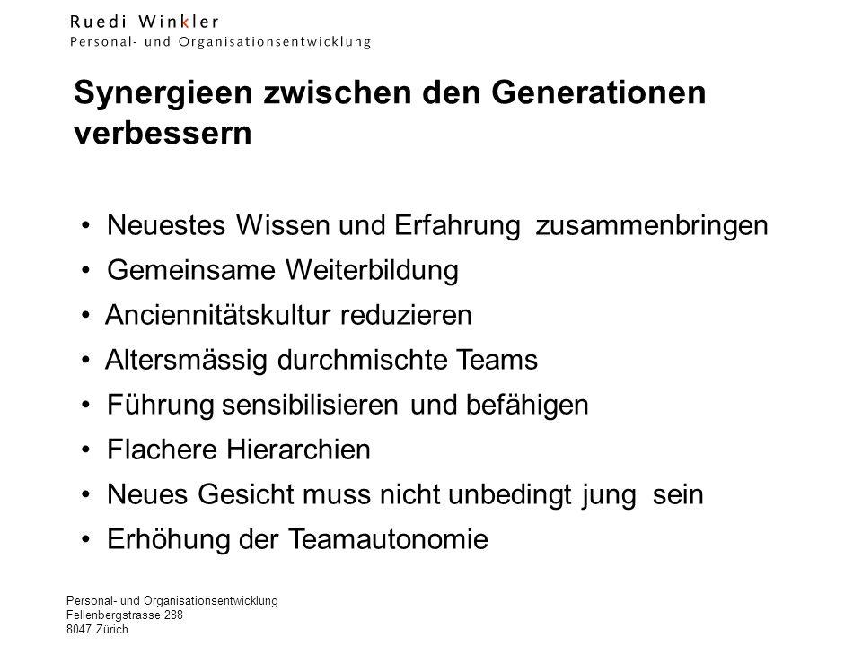Synergieen zwischen den Generationen verbessern