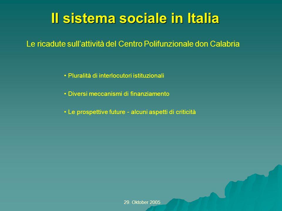 Il sistema sociale in Italia