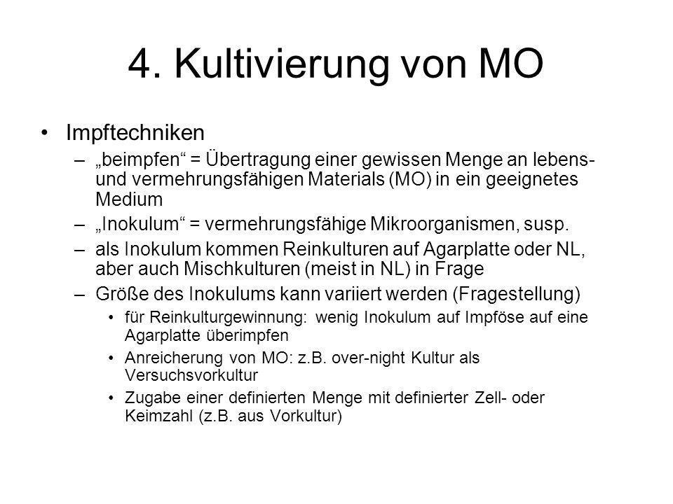 4. Kultivierung von MO Impftechniken