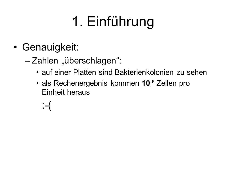 """1. Einführung Genauigkeit: :-( Zahlen """"überschlagen :"""