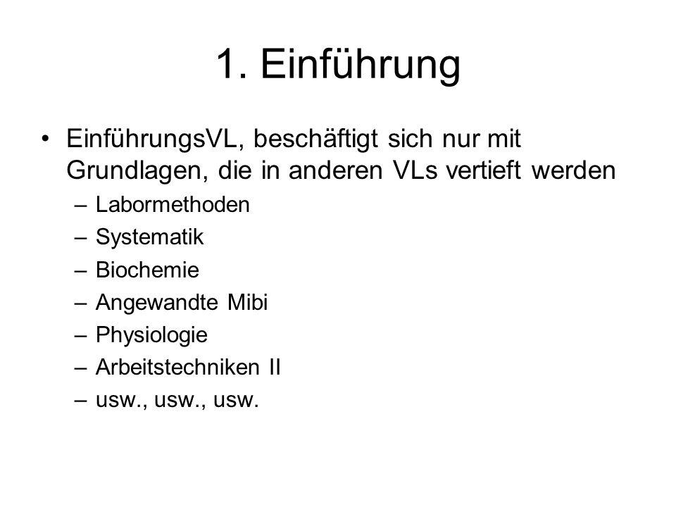1. Einführung EinführungsVL, beschäftigt sich nur mit Grundlagen, die in anderen VLs vertieft werden.