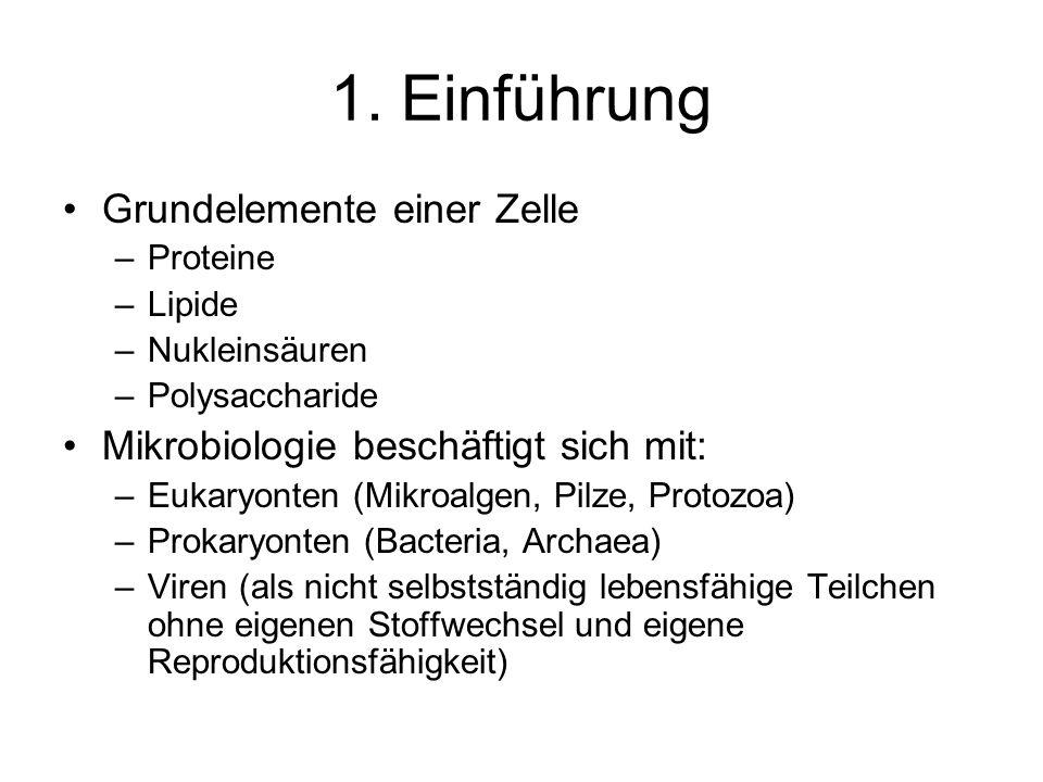 1. Einführung Grundelemente einer Zelle