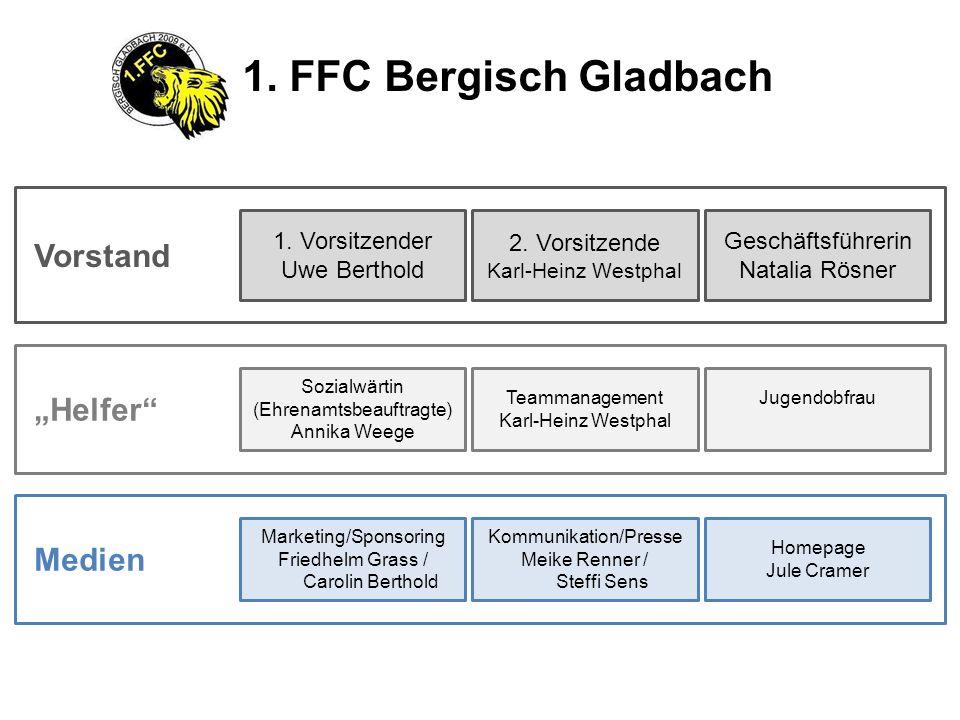 """1. FFC Bergisch Gladbach Vorstand """"Helfer Medien 1. Vorsitzender"""