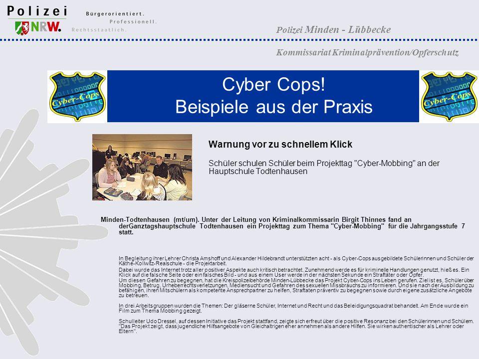 Cyber Cops! Beispiele aus der Praxis