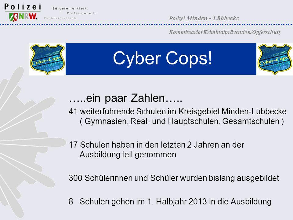 Cyber Cops! …..ein paar Zahlen…..