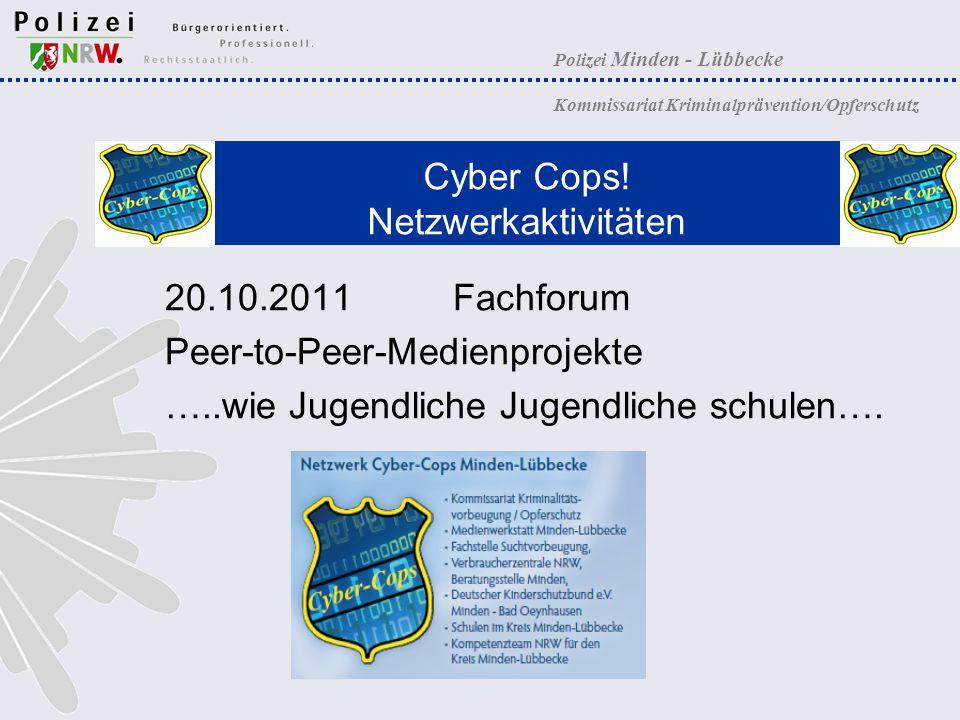 Cyber Cops! Netzwerkaktivitäten