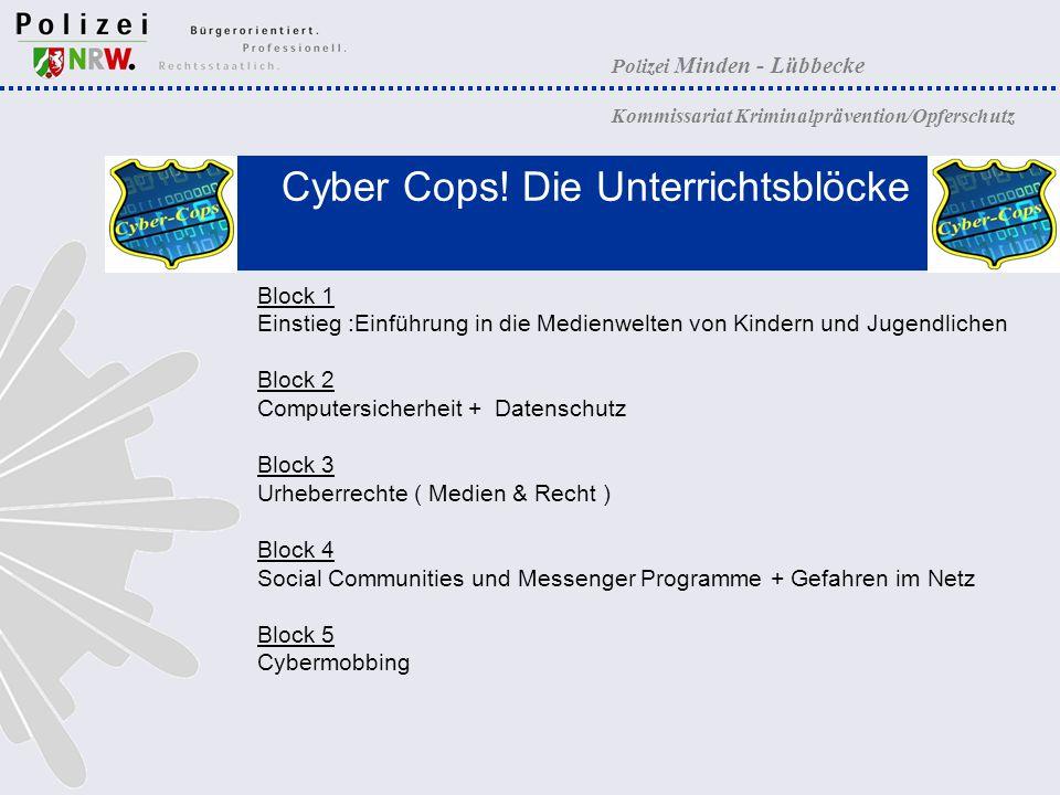 Cyber Cops! Die Unterrichtsblöcke