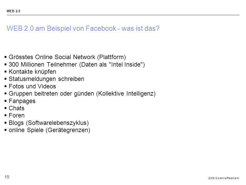 WEB 2.0 am Beispiel von Facebook - was ist das