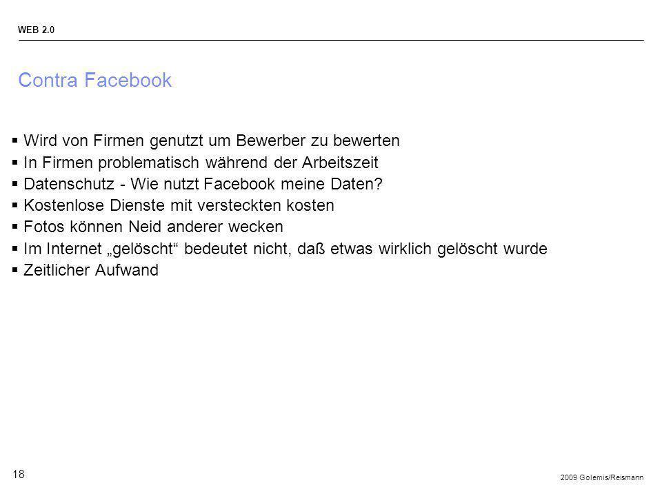 Contra Facebook Wird von Firmen genutzt um Bewerber zu bewerten