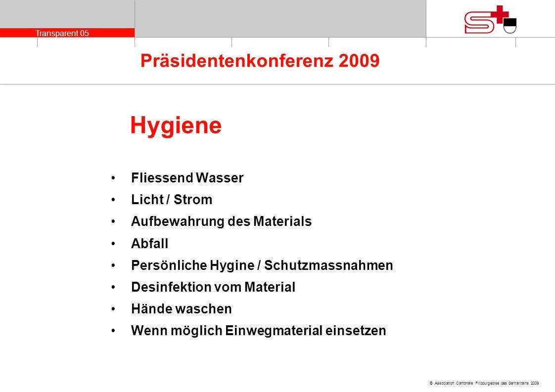 Hygiene Fliessend Wasser Licht / Strom Aufbewahrung des Materials