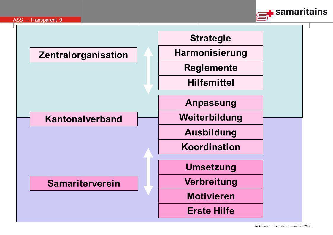 Strategie Harmonisierung. Zentralorganisation. Reglemente. Hilfsmittel. Anpassung. Weiterbildung.