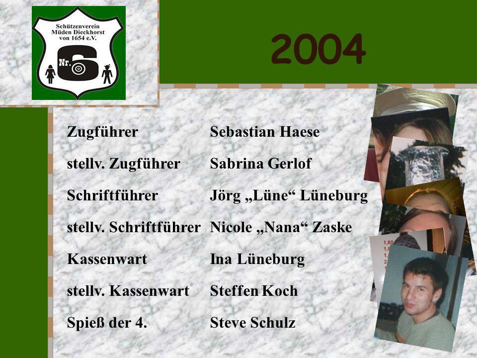 2004 Zugführer Sebastian Haese stellv. Zugführer Sabrina Gerlof