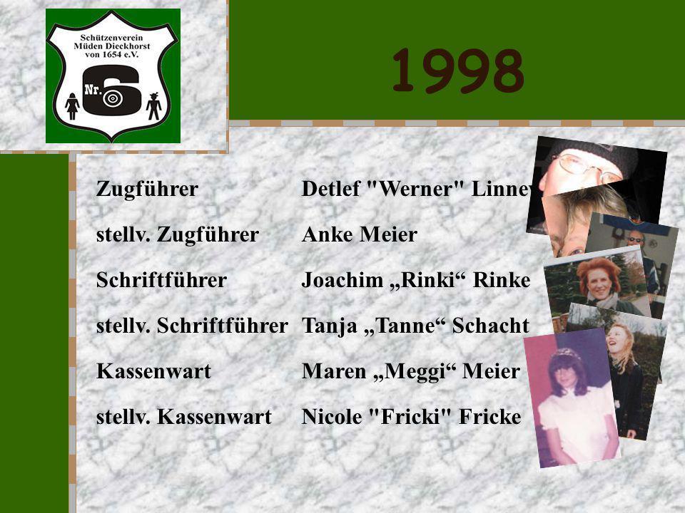 1998 Zugführer Detlef Werner Linneweh stellv. Zugführer Anke Meier