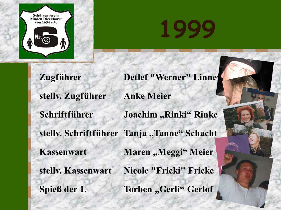 1999 Zugführer Detlef Werner Linneweh stellv. Zugführer Anke Meier