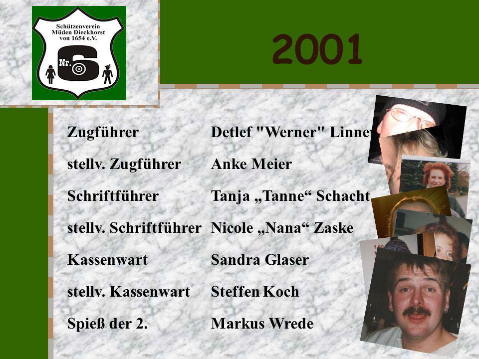 2001 Zugführer Detlef Werner Linneweh stellv. Zugführer Anke Meier