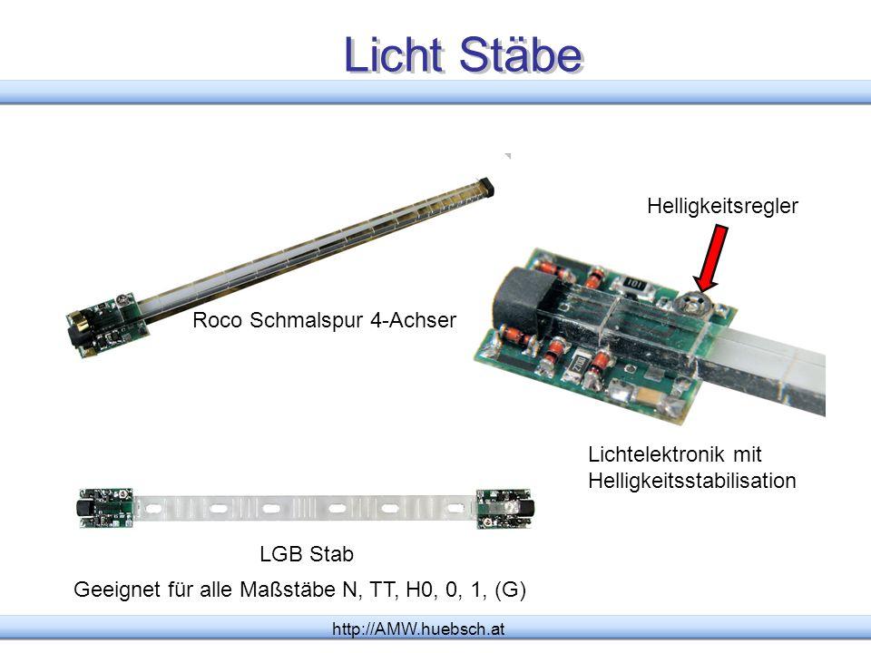 Licht Stäbe Helligkeitsregler Roco Schmalspur 4-Achser
