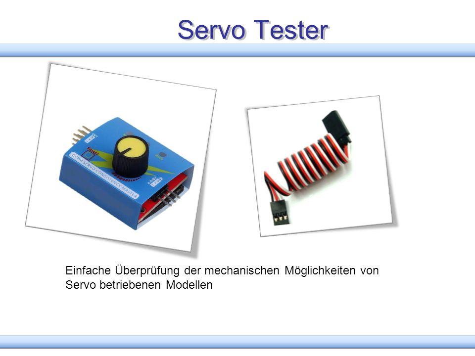 Servo Tester Einfache Überprüfung der mechanischen Möglichkeiten von Servo betriebenen Modellen
