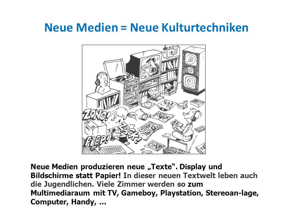 Neue Medien = Neue Kulturtechniken