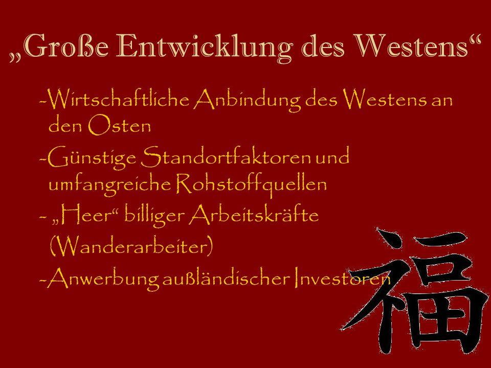 """""""Große Entwicklung des Westens"""