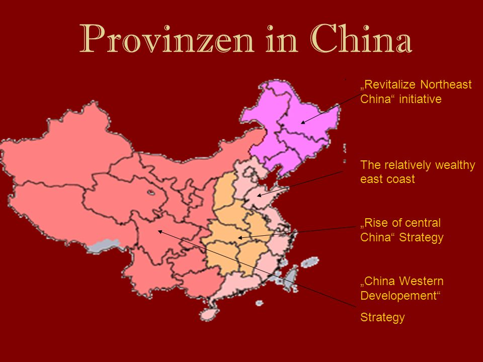 "Provinzen in China ""Revitalize Northeast China initiative"