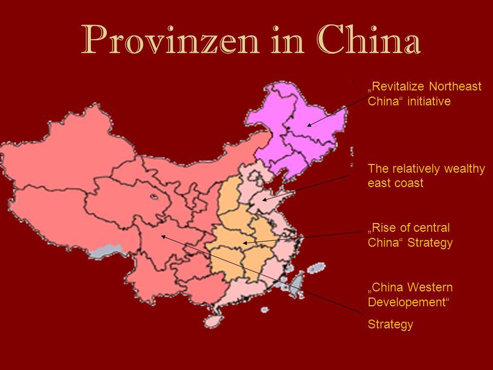 """Provinzen in China """"Revitalize Northeast China initiative"""