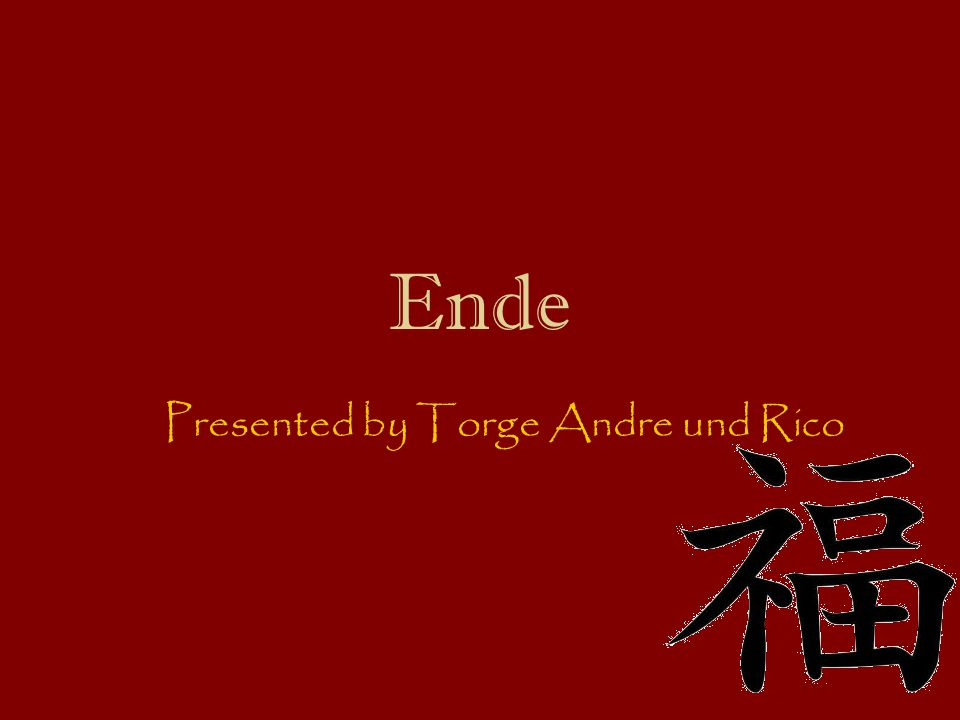 Presented by Torge Andre und Rico