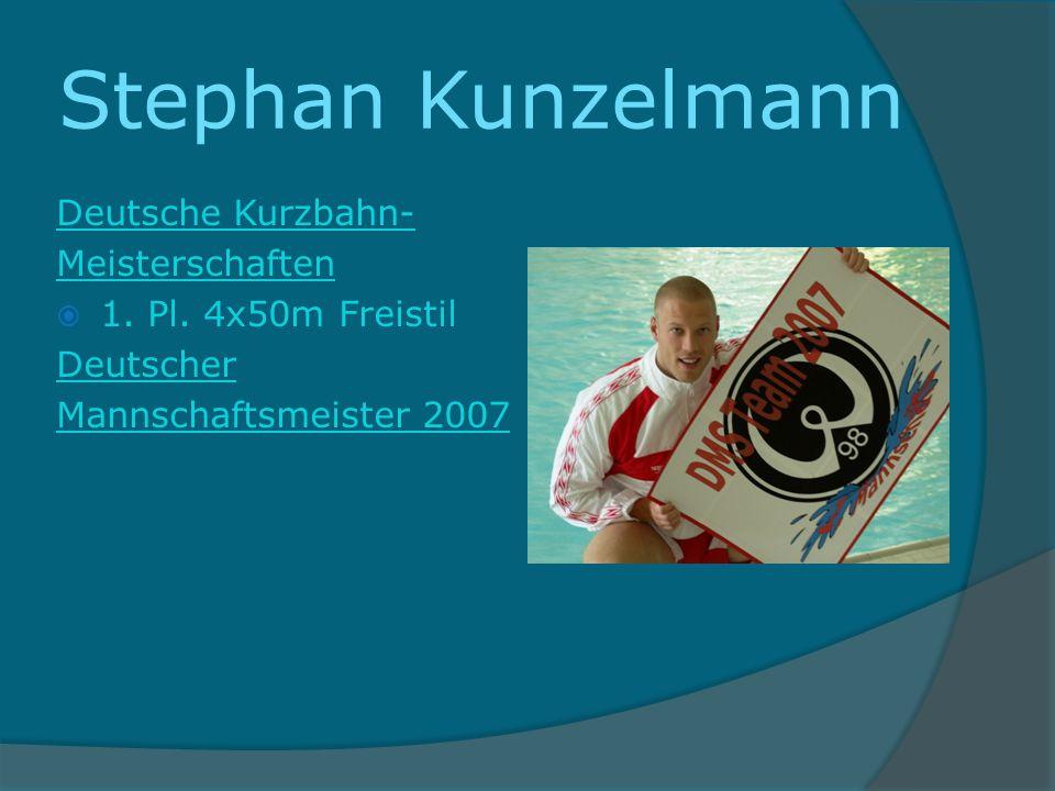 Stephan Kunzelmann Deutsche Kurzbahn- Meisterschaften