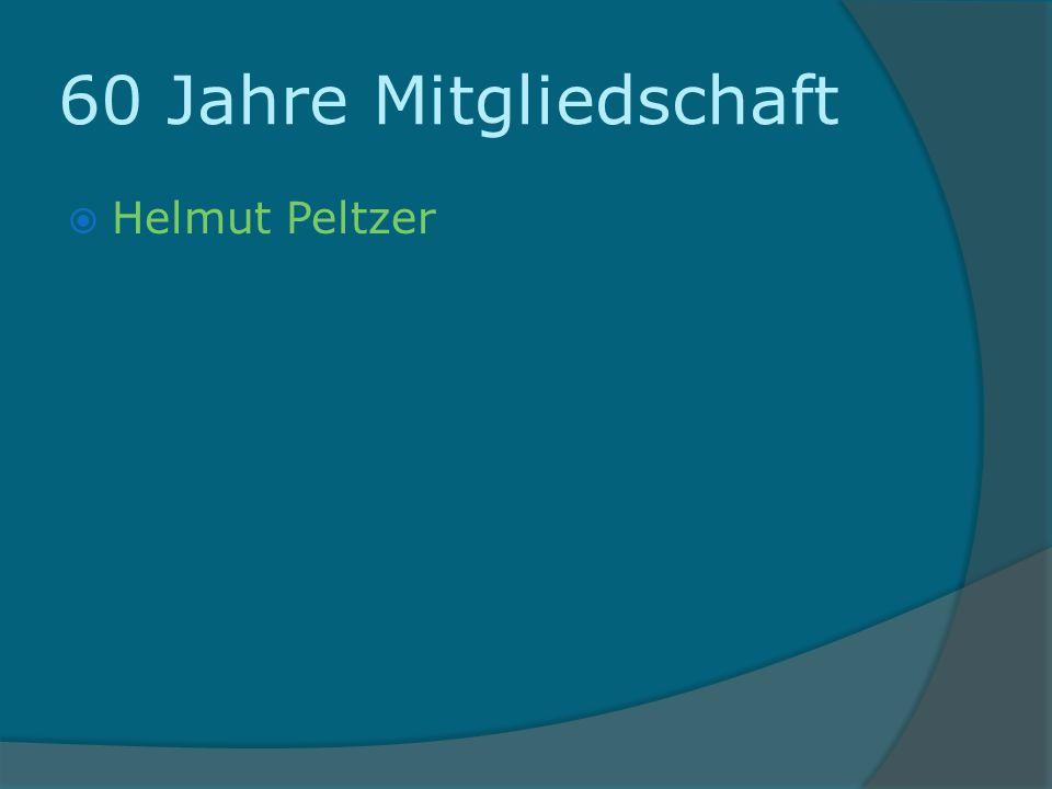60 Jahre Mitgliedschaft Helmut Peltzer