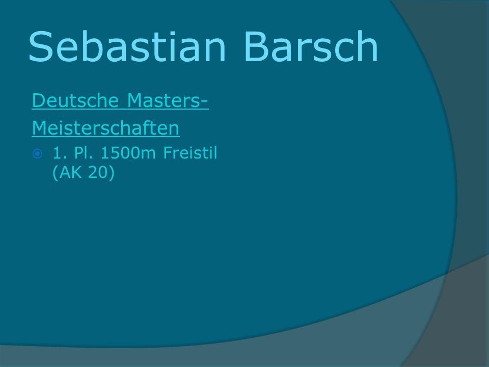 Sebastian Barsch Deutsche Masters- Meisterschaften