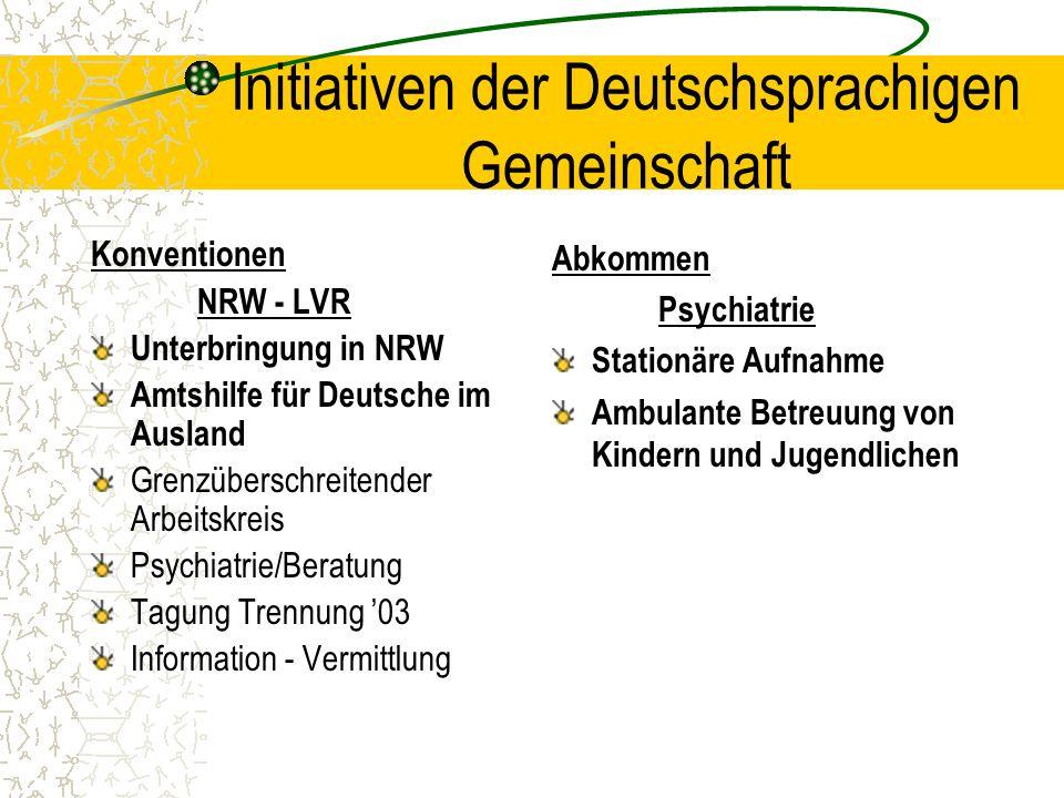Initiativen der Deutschsprachigen Gemeinschaft