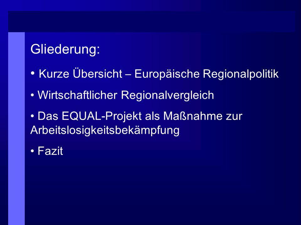 Kurze Übersicht – Europäische Regionalpolitik