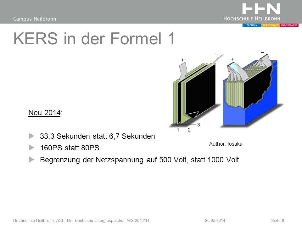 KERS in der Formel 1 Neu 2014: 33,3 Sekunden statt 6,7 Sekunden