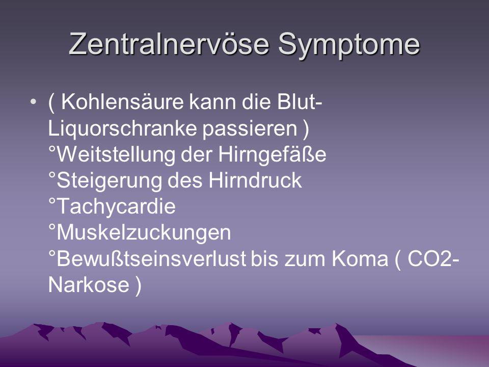 Zentralnervöse Symptome
