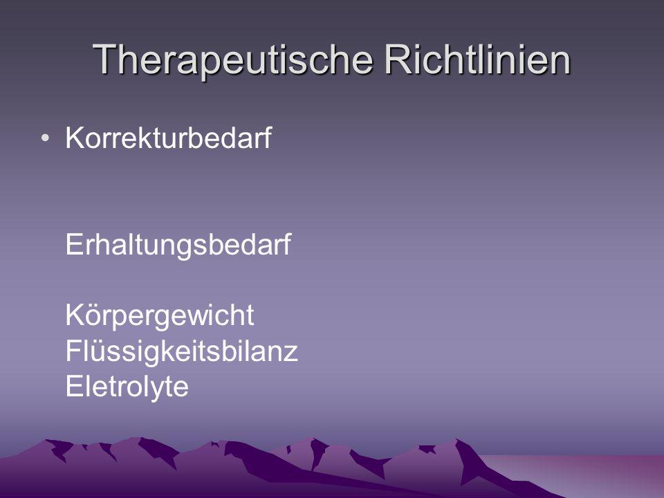 Therapeutische Richtlinien