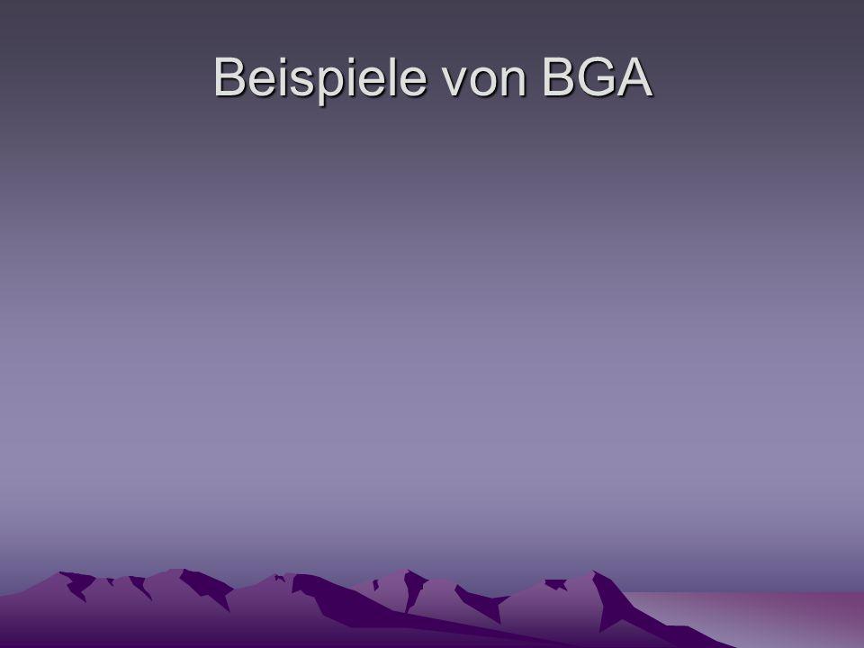 Beispiele von BGA