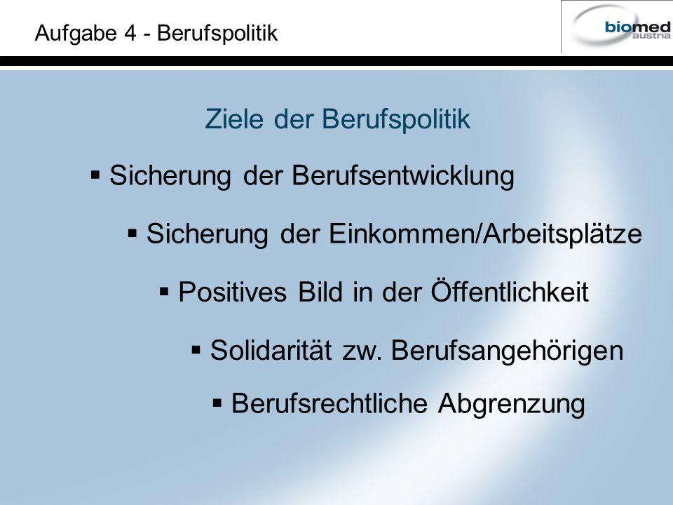 Ziele der Berufspolitik