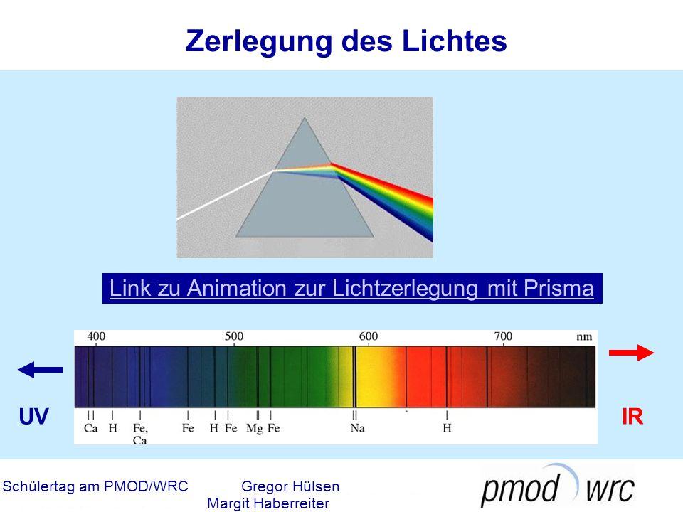 Zerlegung des Lichtes Link zu Animation zur Lichtzerlegung mit Prisma