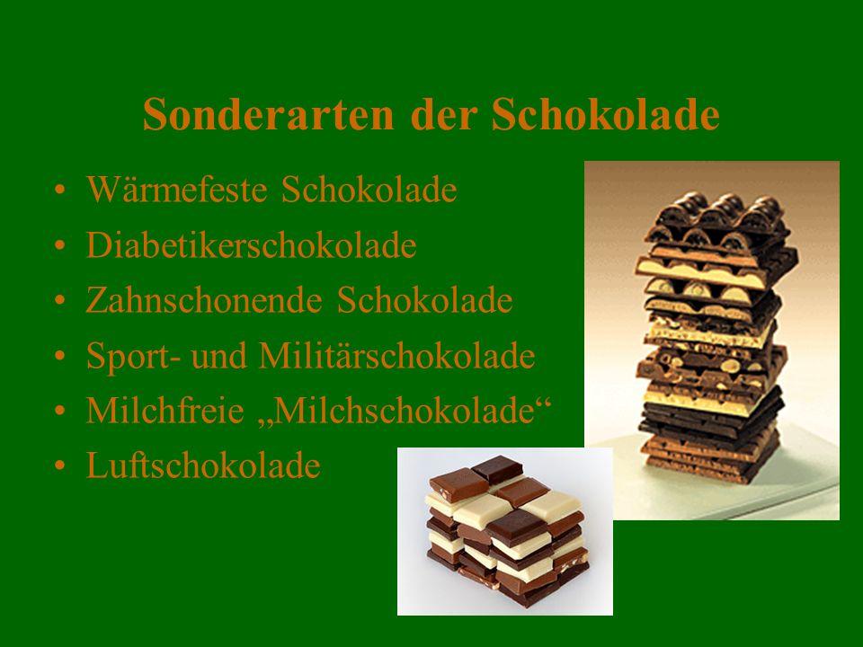 Sonderarten der Schokolade