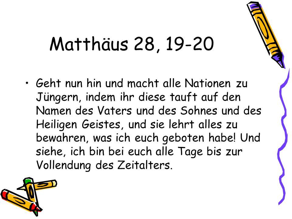 Matthäus 28, 19-20