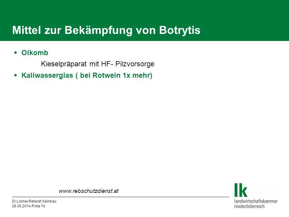 Mittel zur Bekämpfung von Botrytis